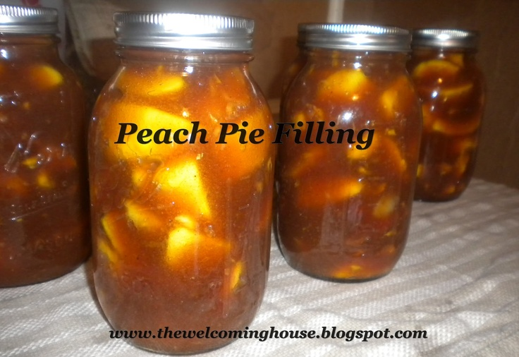 The Welcoming House: More Peach-y Goodness---A Canning recipe for Peach Pie filling