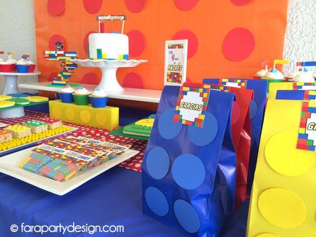 Little things Creations: Fiestas- Cumpleaños de Lego