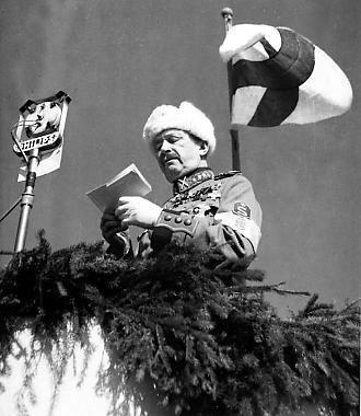 Marshal Mannerheim's speech in Viipuri. 1938