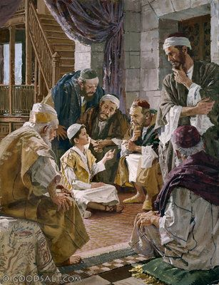 Luke 2: The Finding of the Child Jesus in the Temple. When Jesus was twelve years old, His parents went up to Jerusalem for the feast of Passover. As they were returning home, the boy Jesus remained behind. After three days, they found Him in the temple. Jesus went down with them to Nazareth, and was obedient to them. And Jesus increased in wisdom and in stature, and in favor with God and man. (Luke 2:41-5)
