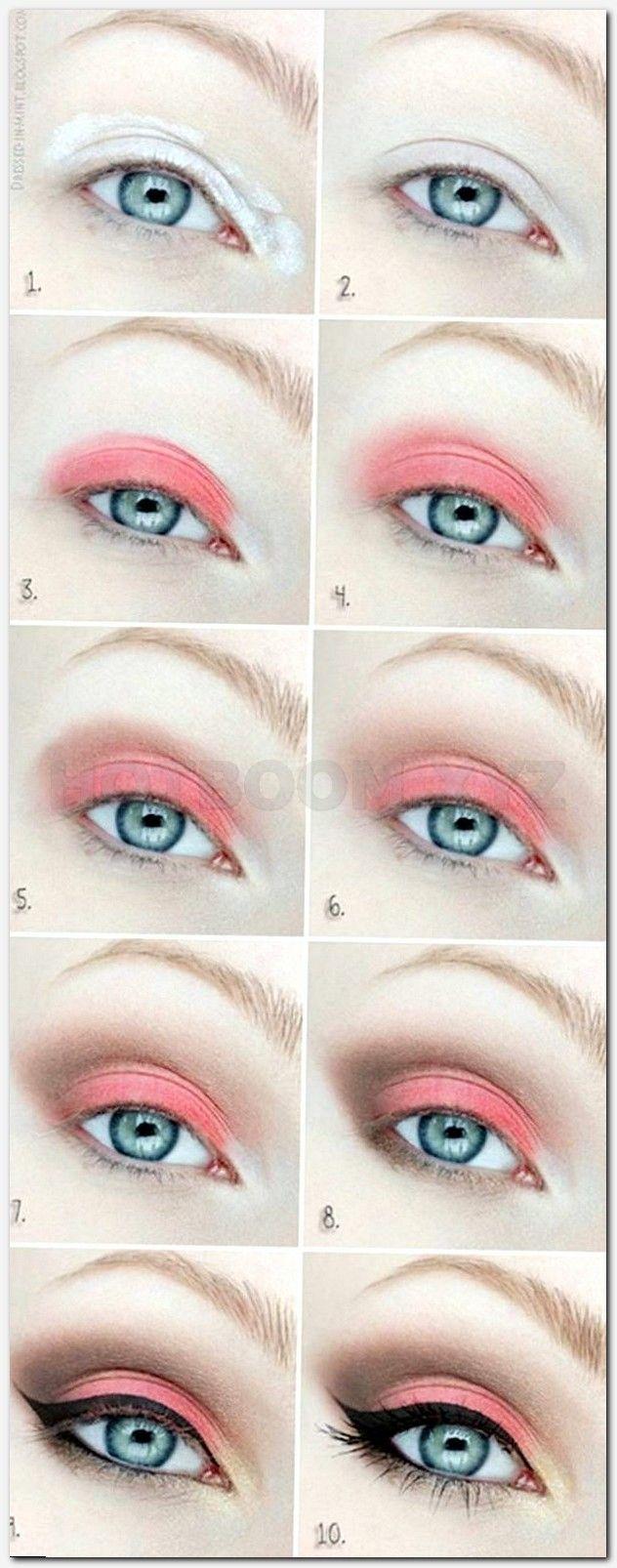 Cute Coral Eyeshadow Tutorial For Beginners
