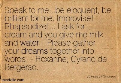 a summary of cyrano a poem by edmond rostand Edmond rostand was born in marseilles,  summary the play begins in  as they fight cyrano recites a poem and then stabs valvert.