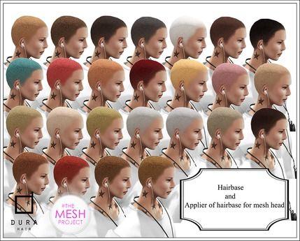*Dura* Hairbase & Hairbase applier for mesh head