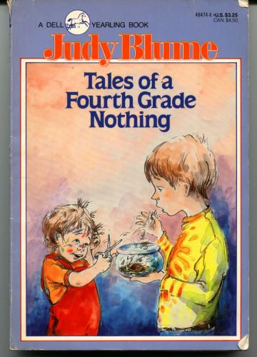 Tales of a Fourth Grade Nothing. I loved this book as a kid it was the first book to ever really make me laugh. I can't wait till my son gets older so I can read it to him.