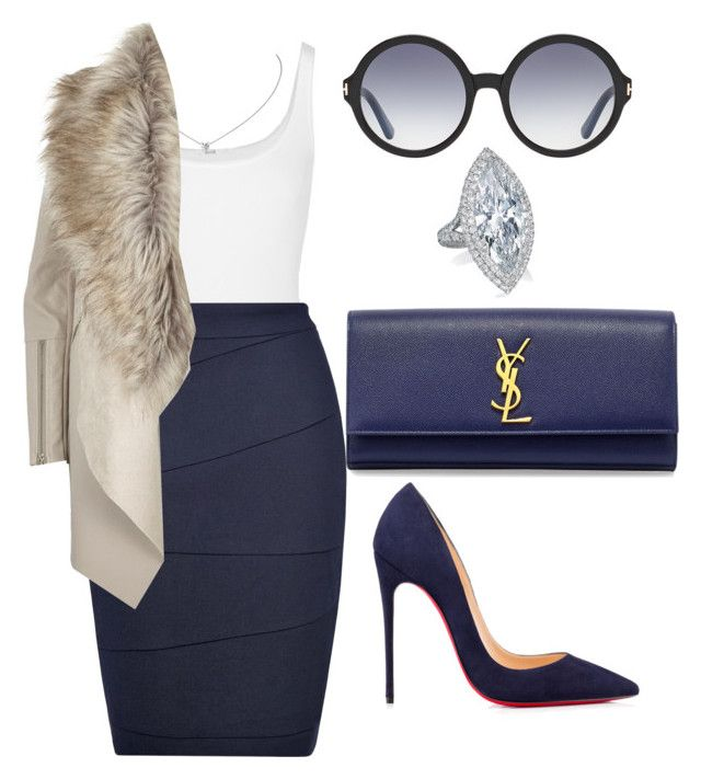 Untitled #268 by amoney-1 on Polyvore featuring polyvore fashion style River Island L.K.Bennett Wolford Christian Louboutin Yves Saint Laurent Tom Ford