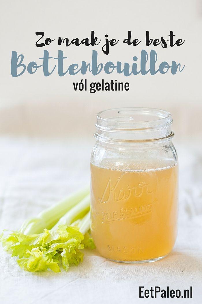 De beste Bottenbouillon? Die maak je zo! Helemaal vol gelatine, voedingsstoffen én smaak, precies zoals het hoort. EetPaleo.nl