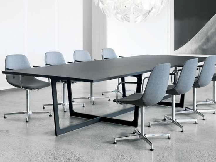 Rectangular Meeting Table INSULA BASE Insula Base Collection By Erik  Jørgensen | Design ERNST