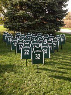 athletic yard signs | Personalized Sports Yard signs, football, baseball, basketball ...
