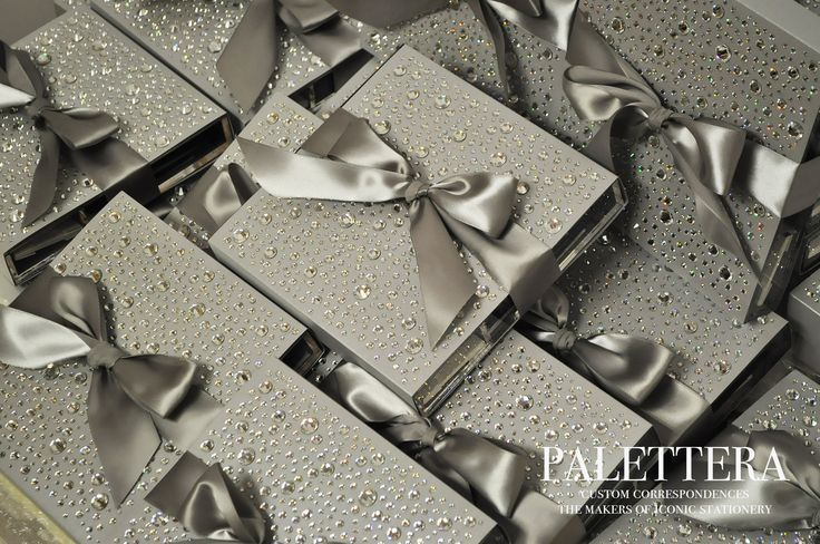 Swarovski and lucite letterpress wedding invitation for a luxury wedding at The One and Only Ocean Club. www.palettera.ca