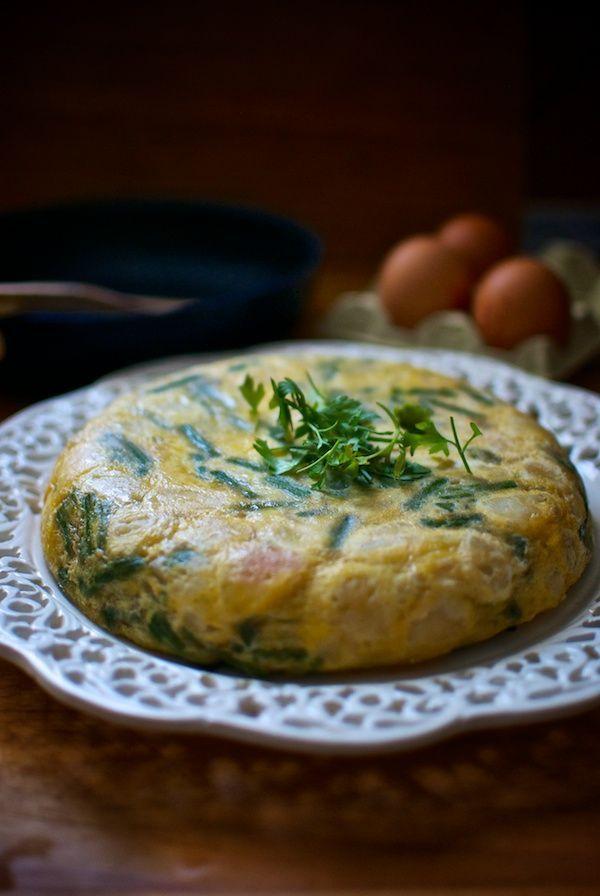 Tortilla de patatas y espárragos que ha elaborado Pepekitchen, para el blog 'A tu Gusto' de superSol :)