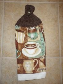 Great Coffee, Mocha, Cappuccino   Kitchen Decor Hanging HAND TOWEL.