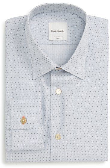 Men's Paul Smith London Moon Jacquard Trim Fit Dress Shirt