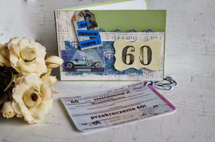 nietypowa mandatowa kartka urodzinowa #birthday #card #scrapbooking