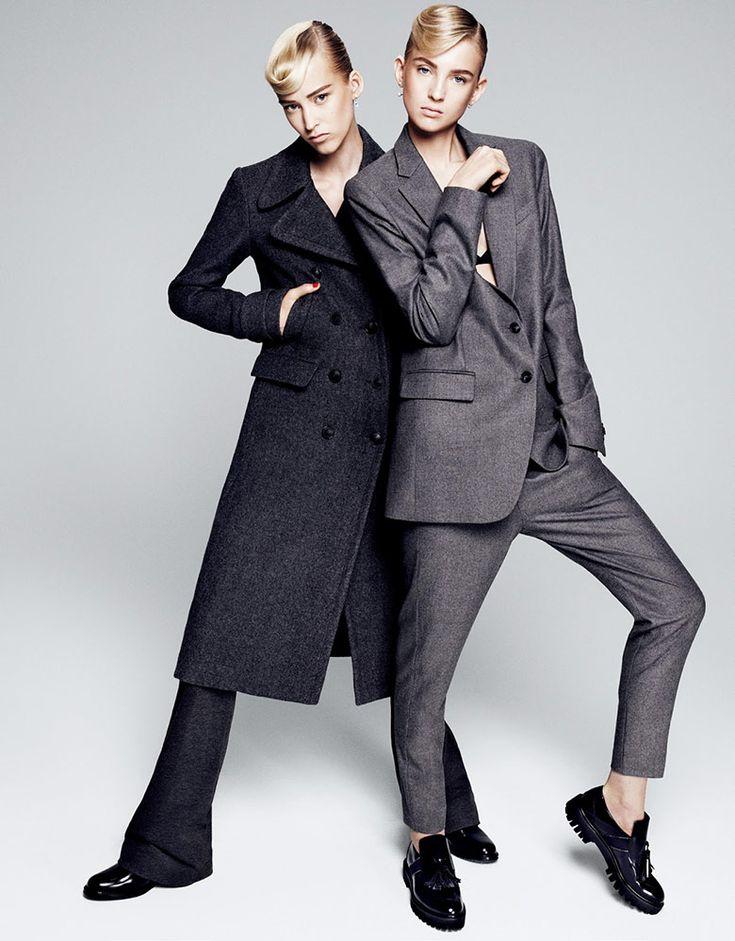 Paola Kudacki captures Nastya Sten & Eva Berzina for Vogue Japan October 2015. Styled by Aurora Sansone. Hair by Kevin Ryan. Make-up by Benjamin Puckey.