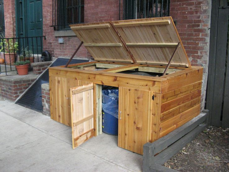 Garbage Can Enclosure By Shopdog Lumberjocks Com