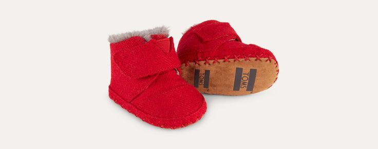 Red Toms Tiny Toms Cuna Layette Boots