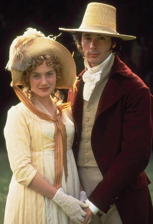 Kate Winslet as Marianne Dashwood and Greg Wise as John Willoughby inSense and Sensibility (1995). Period and costume drama. Jane Austen
