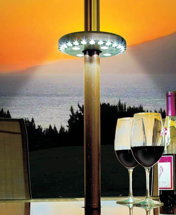 Keep Enjoying The Outdoors After The Sun Goes Down With This LED Patio  Umbrella Light.