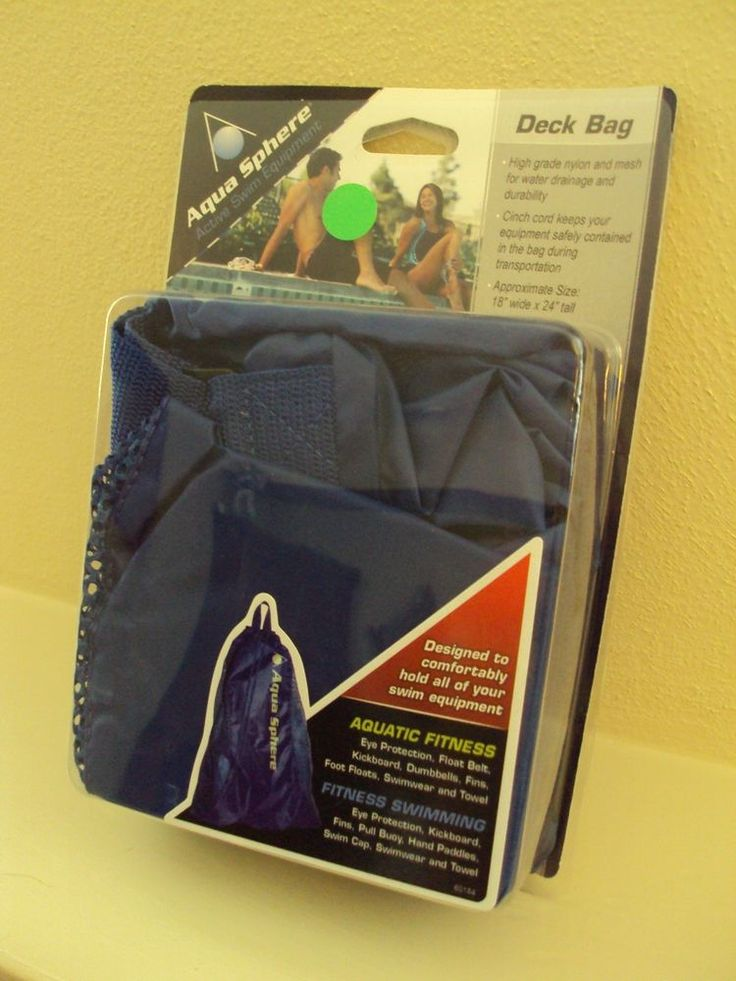 "Aqua Sphere Active Swim Equipment Deck Bag. Nylon Hangstrap Designed to Comfortably Fit All of Your Swim Equipment. High Grade Nylon and Mesh. Size: 18"" x 24"". Smoke & Pet free home. 