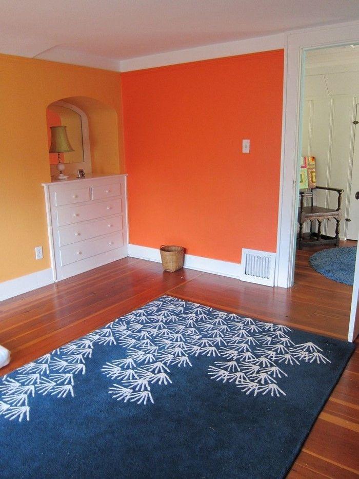 Farben für Wohnzimmer in Orange 80 Wohnideen! in 2018 Wohnzimmer