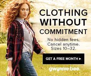Subscription Box Ideas for the Holiday + Black Friday Sales.  Free Gwynnie Bee Trial plus Free Matte Lipstick! #giftsforher #gwynniebee #clothingsubscription #subscriptionbox #forwomen