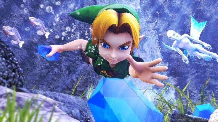 Zelda - Diving Game by cfowler7.deviantart.com on @DeviantArt