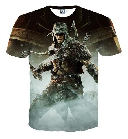 Assassin's Creed Connor Kenway In Wolf Costume Fashion T-shirt  #AssassinsCreed #Connor #Kenway #Wolf #Costume #Fashion #Tshirt