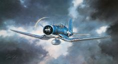 """The Corsair's distinctive sound, which earned it among the Japanese the nick-name of """"Whistling Death"""", partly because of the engine sound, that was caused by the wing-root inlets for engine air. Shown above is Maj. Gregory Boyington's F4U from VMF-214."""