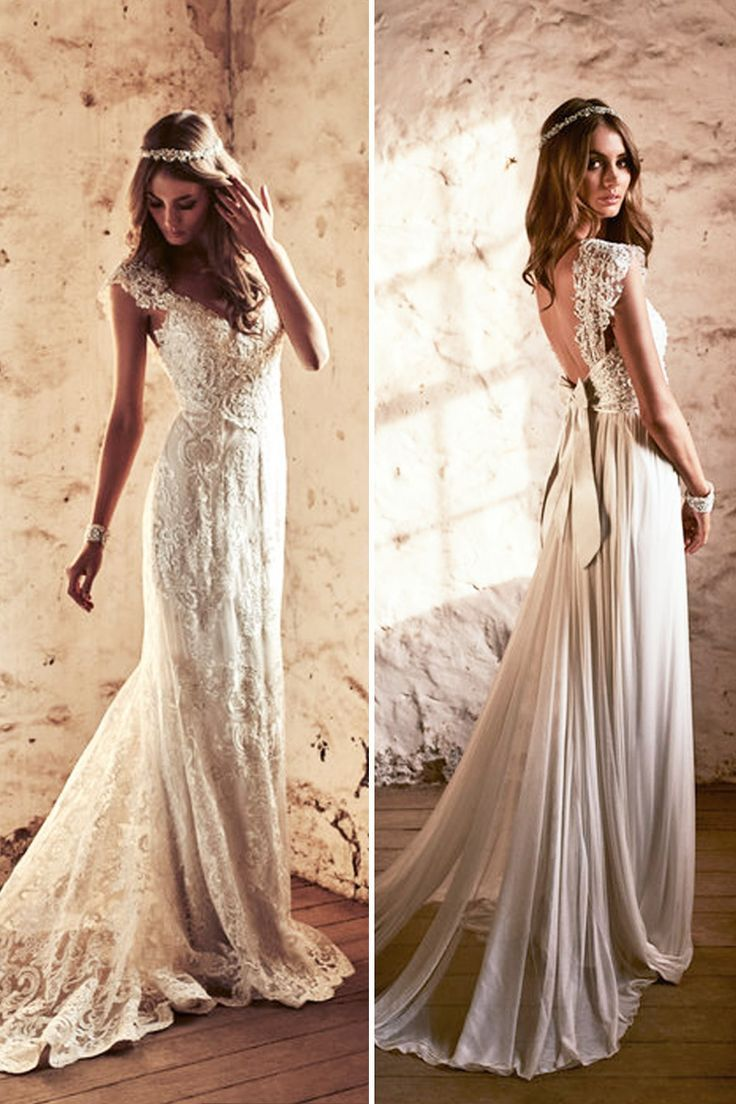 Amazing Anna Campbell 2018 Wedding Dresses ❤ Boho vintage lace open back wedding  dress with ef432b0a6642