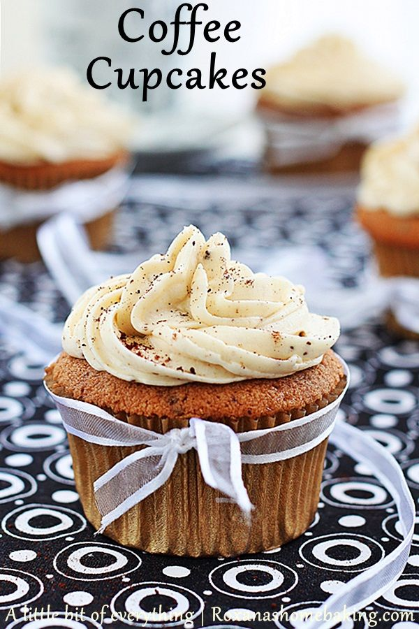 Coffee flavored cupcakes! Yes Please!
