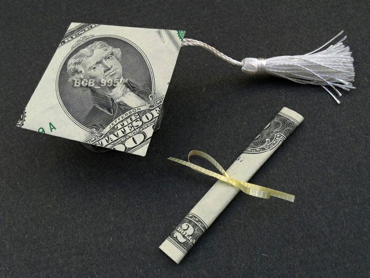 Money Origami Graduation Cap & Diploma - Nice Grad Gift ... - photo#17
