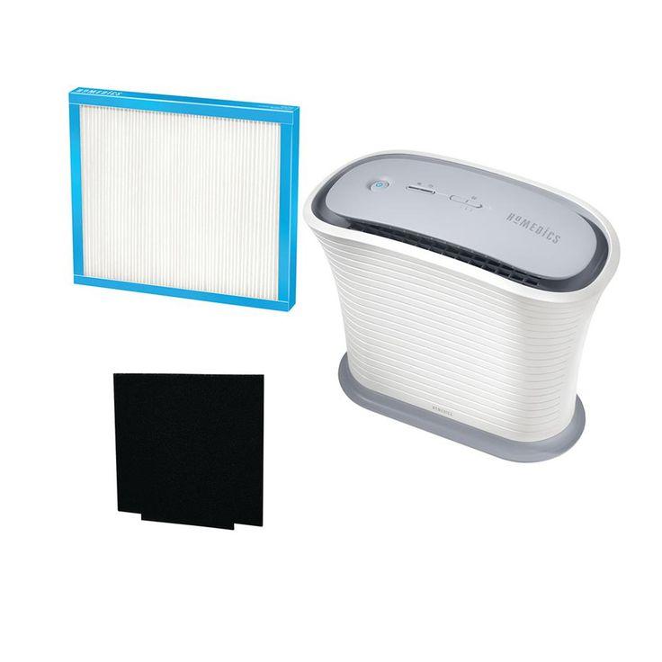 HoMedics True Small Room Air Purifier, White