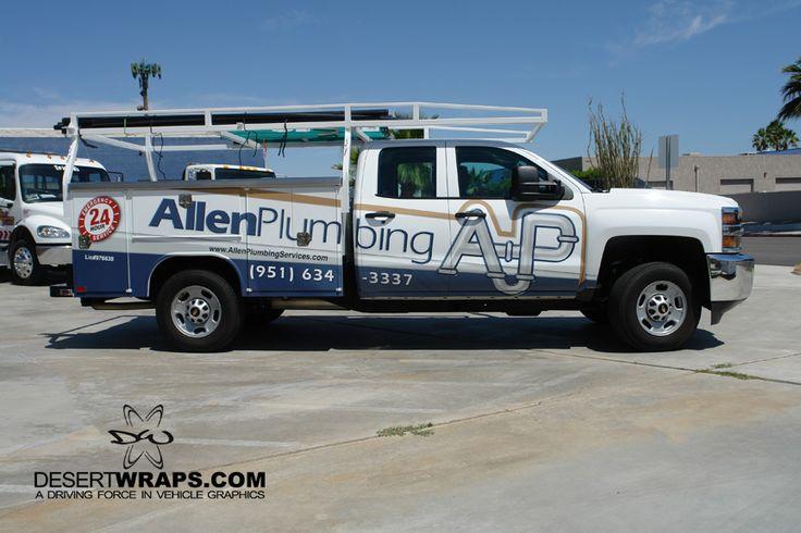 Allen Plumbing has been wrapped by DesertWraps.com located in Palm Desert, CA. 760-935-3600. #TruckWrap #Branding #VehicleBranding #Truck