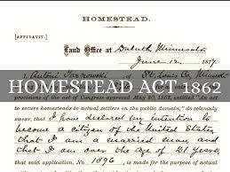 Homestead act 1862 alaska