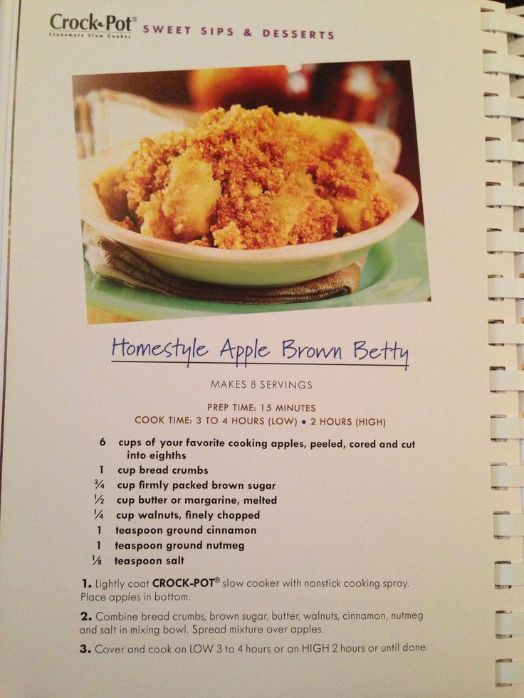 about APPLE BROWN BETTY on Pinterest | Apples, Brown and Date Cookies ...
