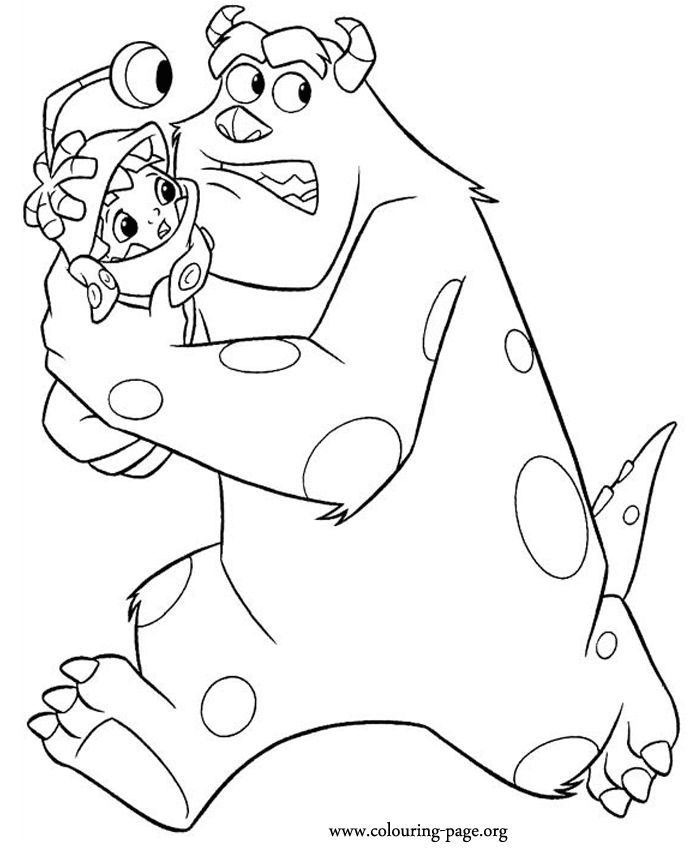 Monsters Inc Cda Coloring Pages