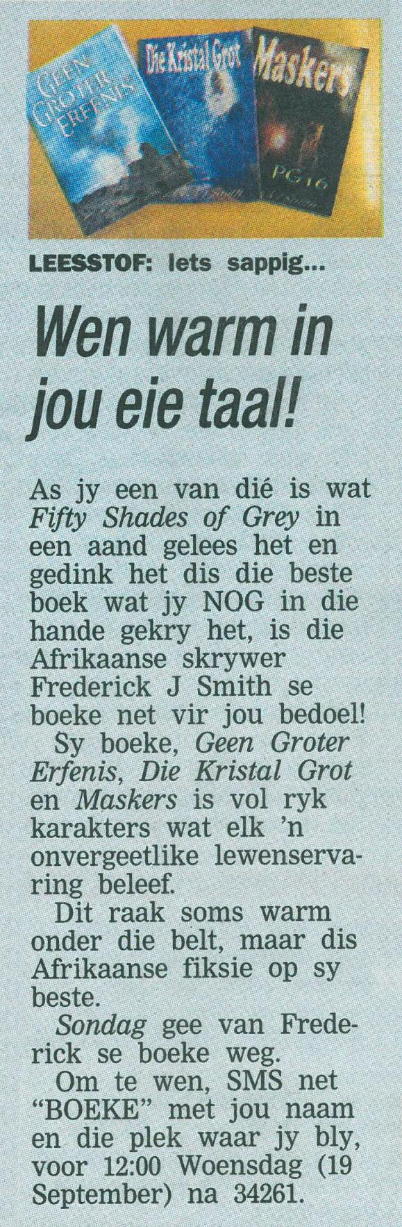 Editorial by Sondag newspaper.