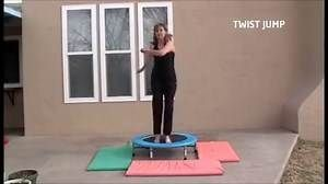 A Fun Mini Trampoline Workout # 1, rebounding exercise with Coach Lucille Brasher