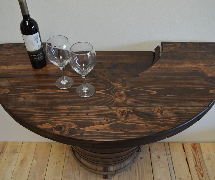 17 best images about wine barrel furniture on pinterest for Table 85 hours