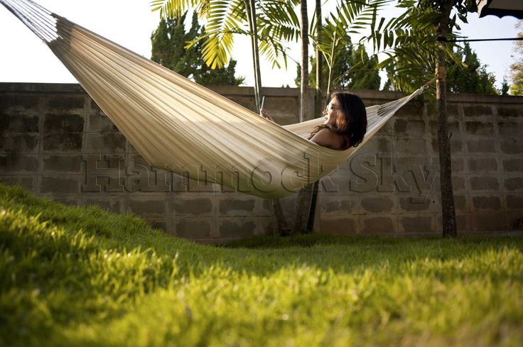 Complete List of the Best Outdoor Hammocks! Hammock Sky(R) Brazilian Hammock - Two Person Double for Backyard, Porch, Outdoor or Indoor Use.