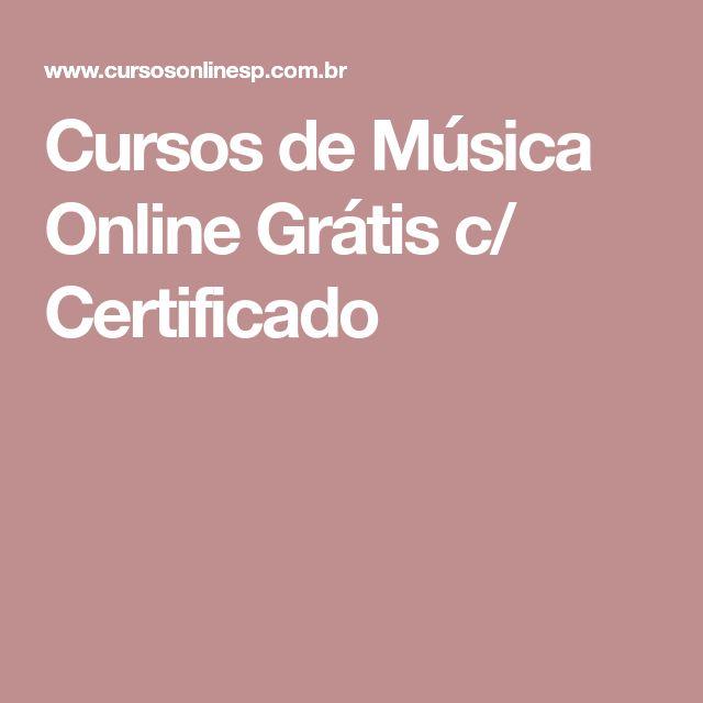 Cursos de Música Online Grátis c/ Certificado