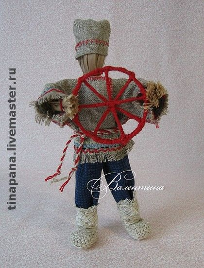 """Народные куклы ручной работы. Ярмарка Мастеров - ручная работа """"Спиридон-солнцеворот"""". Handmade."""