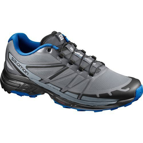 Salomon Men's Wings Pro 2 Trail Running Shoes (Grey/Blue, Size 11.5) - Men's Outdoor Shoes at Academy Sports #trailrunningshoes