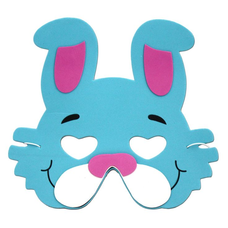 Our dark blue rabbit animal foam mask will be a hit at your next children's birthday party or school play.