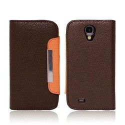 Wholesale Cell Phones Accessories in Toronto Canada SAMSUNG GALAXY S4 LEATHER MAGNETIC POUCH - BROWN  $14.99