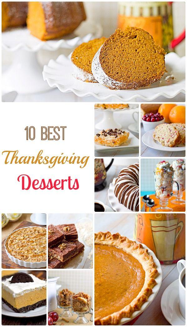 10 best thanksgiving desserts | bakeatmidnite.com | #Thanksgiving #desserts