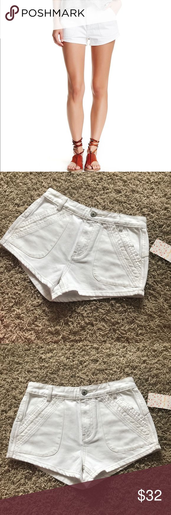 New Free People Sweet Surrender a Denim Shorts Free People Sweet Surrender Denim Shorts •New with tags •In White •Retails for $88  Check out my other listings- Nike, adidas, Michael Kors, Kate Spade, Miss Me, Coach, Wildfox, Victoria's Secret, PINK, Under Armour, True Religion, Ugg Australia, Free People and more! Free People Shorts Jean Shorts