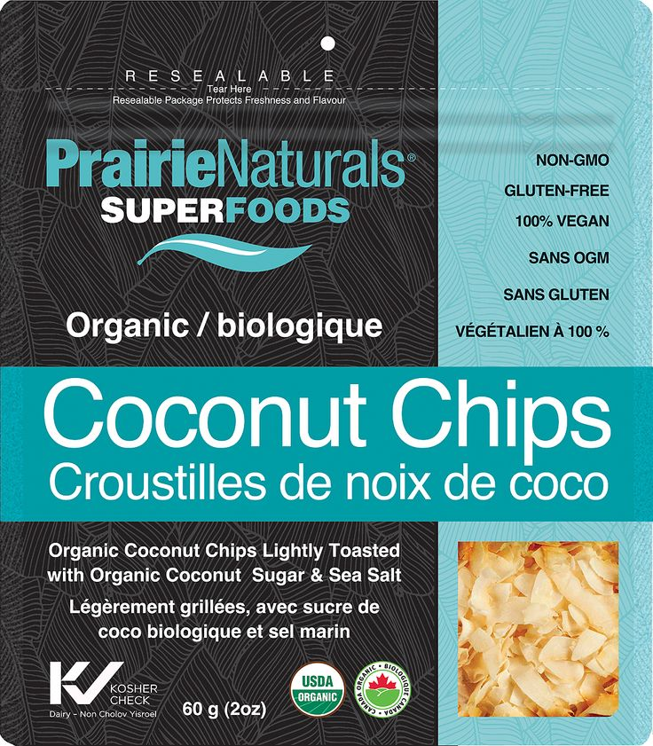 Organic Coconut Chips. NON GMO. Vegan. Gluten Free. 3 Simple Ingredients!