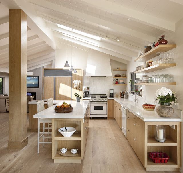 White Oak Kitchen Countertops: 1000+ Ideas About Raked Ceiling On Pinterest