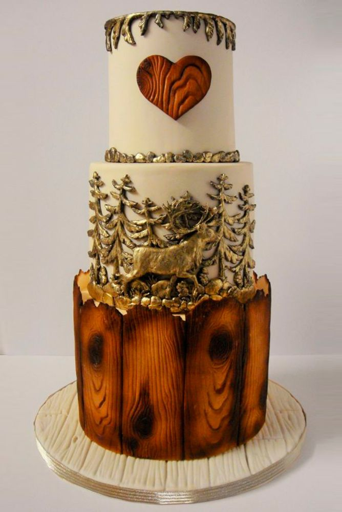30 Rustic Wedding Cakes For The Perfect Country Reception ❤ See more: http://www.weddingforward.com/rustic-wedding-cakes/ #weddings #rustic #cakes